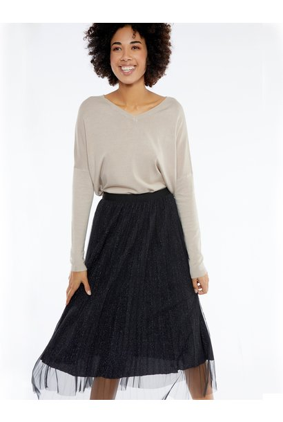 Rok midi skirt shiny