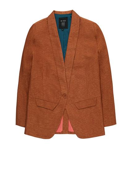 Blazer Hannah tailored shiny linen cinnamon