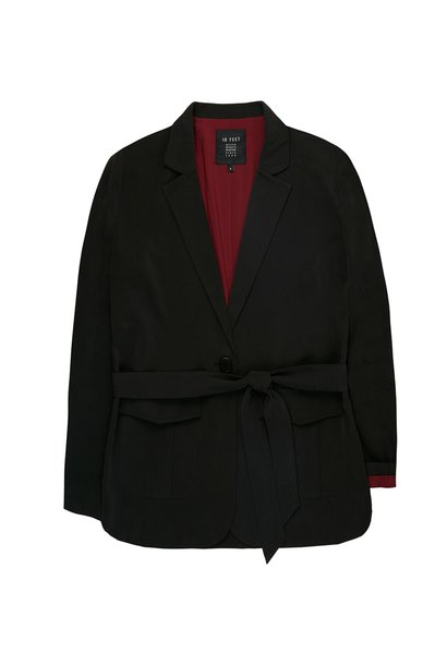 Blazer Adalicia with pockets and waistband charcoal