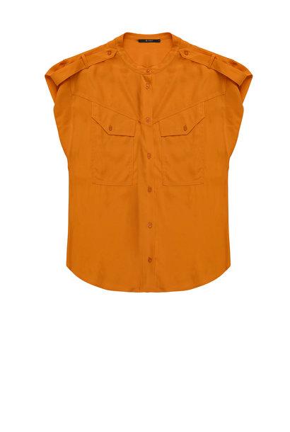 Blouse Bayleigh sleeveless cupro pumpkin