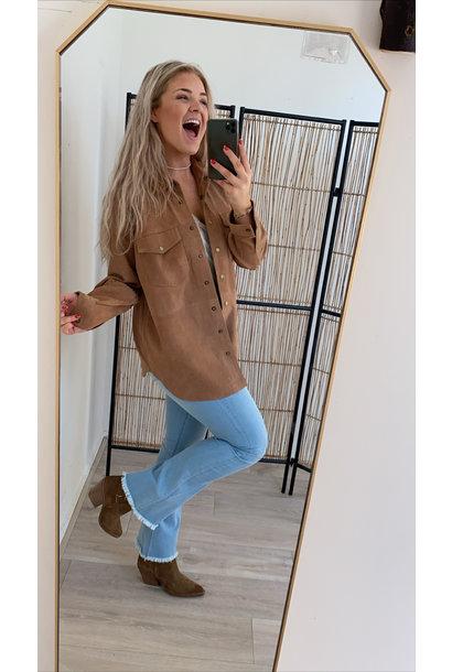 Blouse Yasanna oversize suede shirt cathay spice