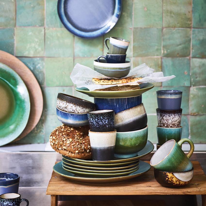 Bord dessert plate ceramic 70's moon-2