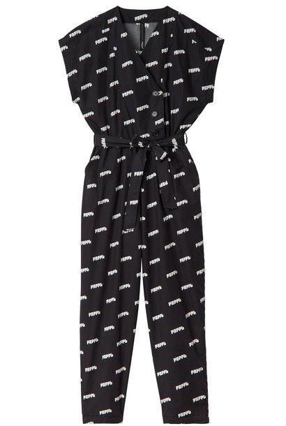 Broek Hooded Jumpsuit pnppl Black