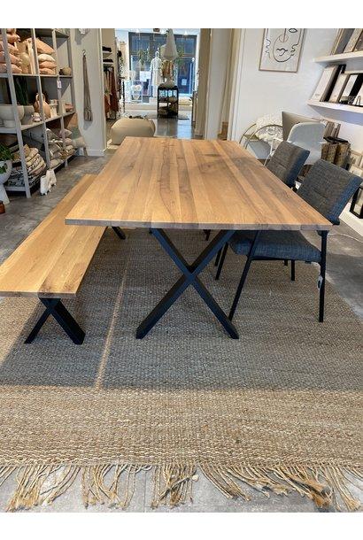 Tafel Xi dining TABLE rustick oak 220x100cm NATURAL OIL