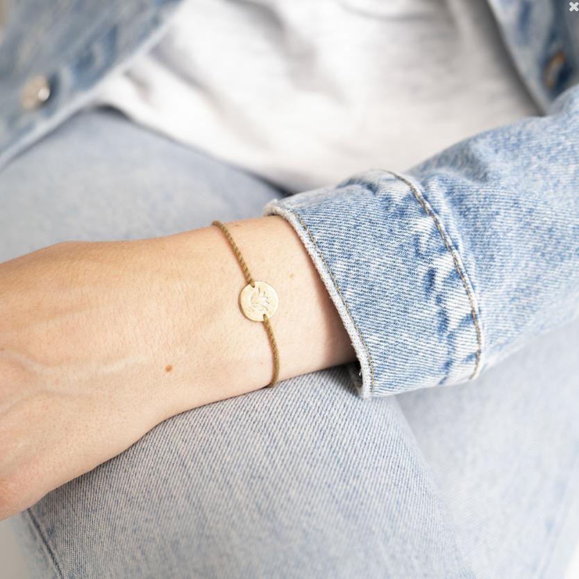 Armband Jewelry Postcard Lotus Gold-2