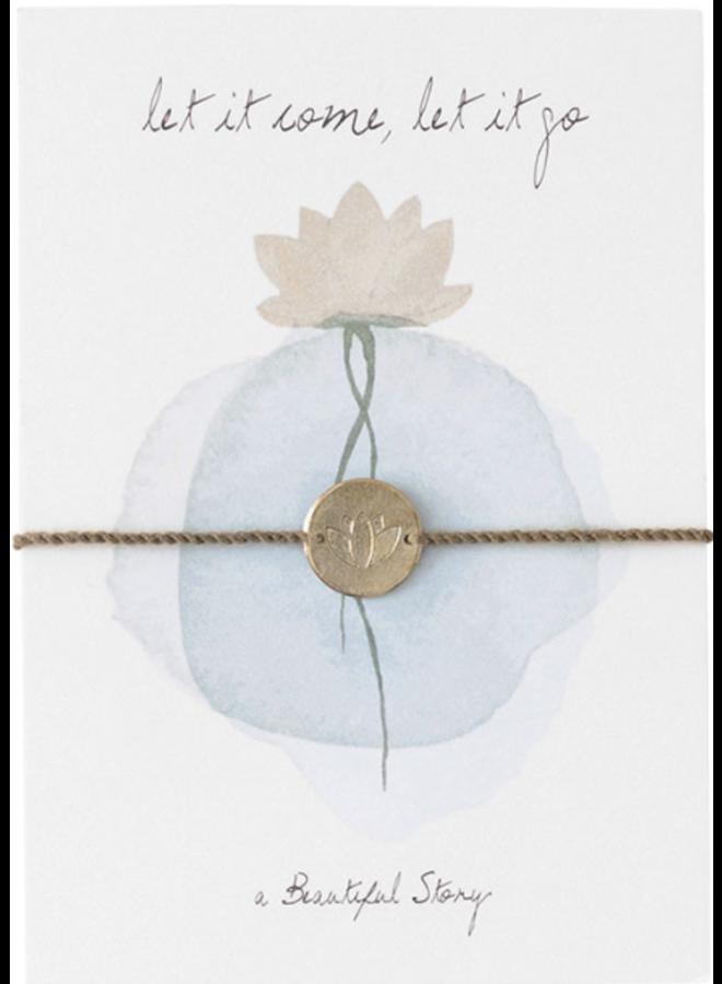 Armband Jewelry Postcard Lotus Gold