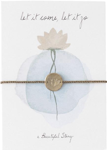 Armband Jewelry Postcard Lotus Gold-1