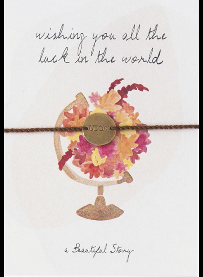 Armband Jewelry Postcard World Gold