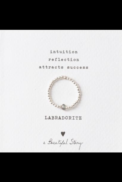 Ring sparkle labradorite M/L Silver