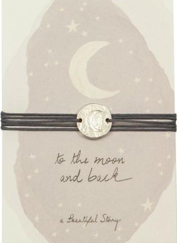 Armband Jewelry Postcard Moon silver Grey-1