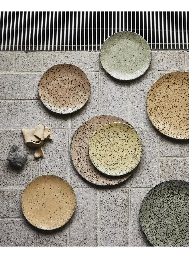 Bord gradient ceramics dinner plate  green