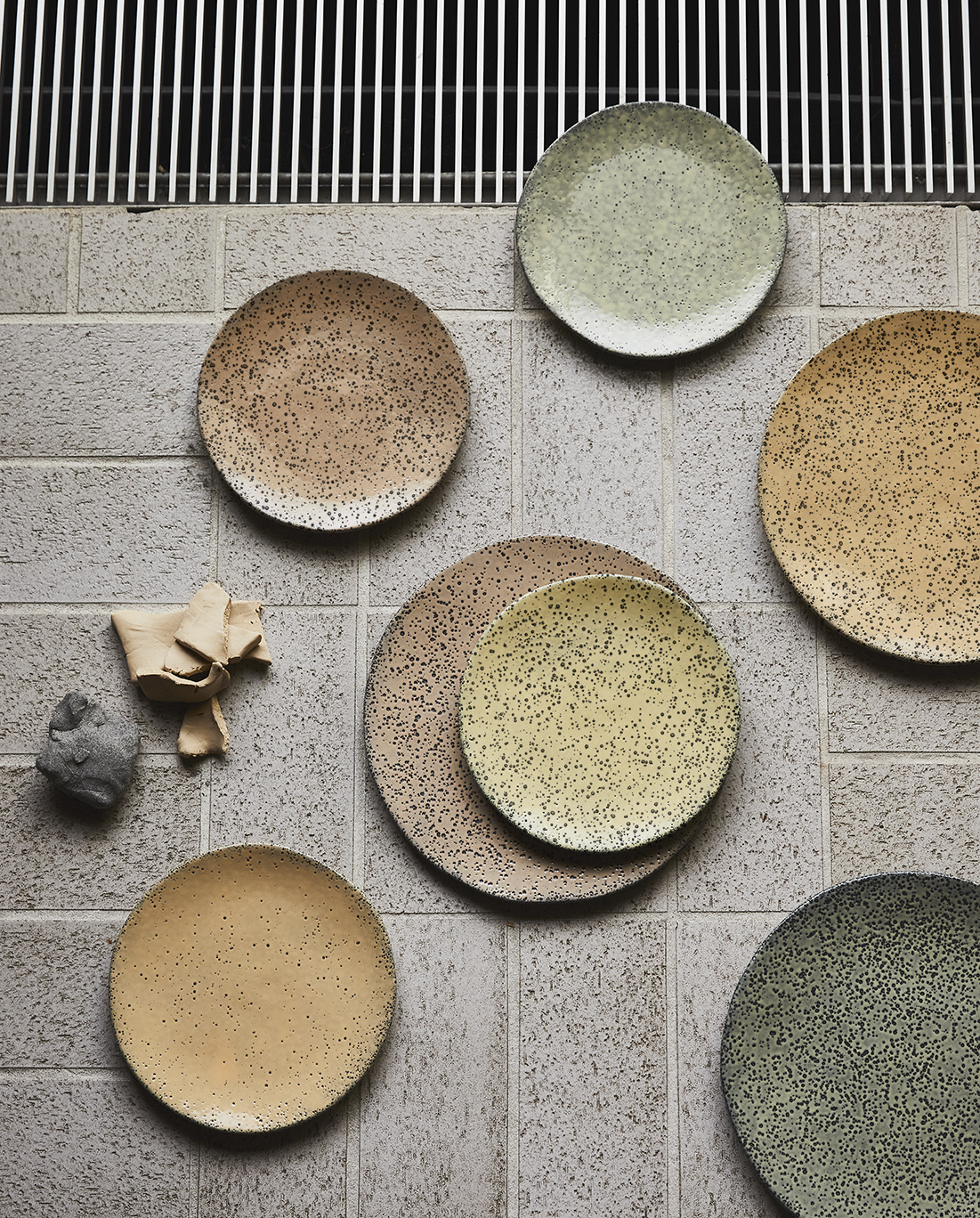 Bord gradient ceramics dinner plate  green-2