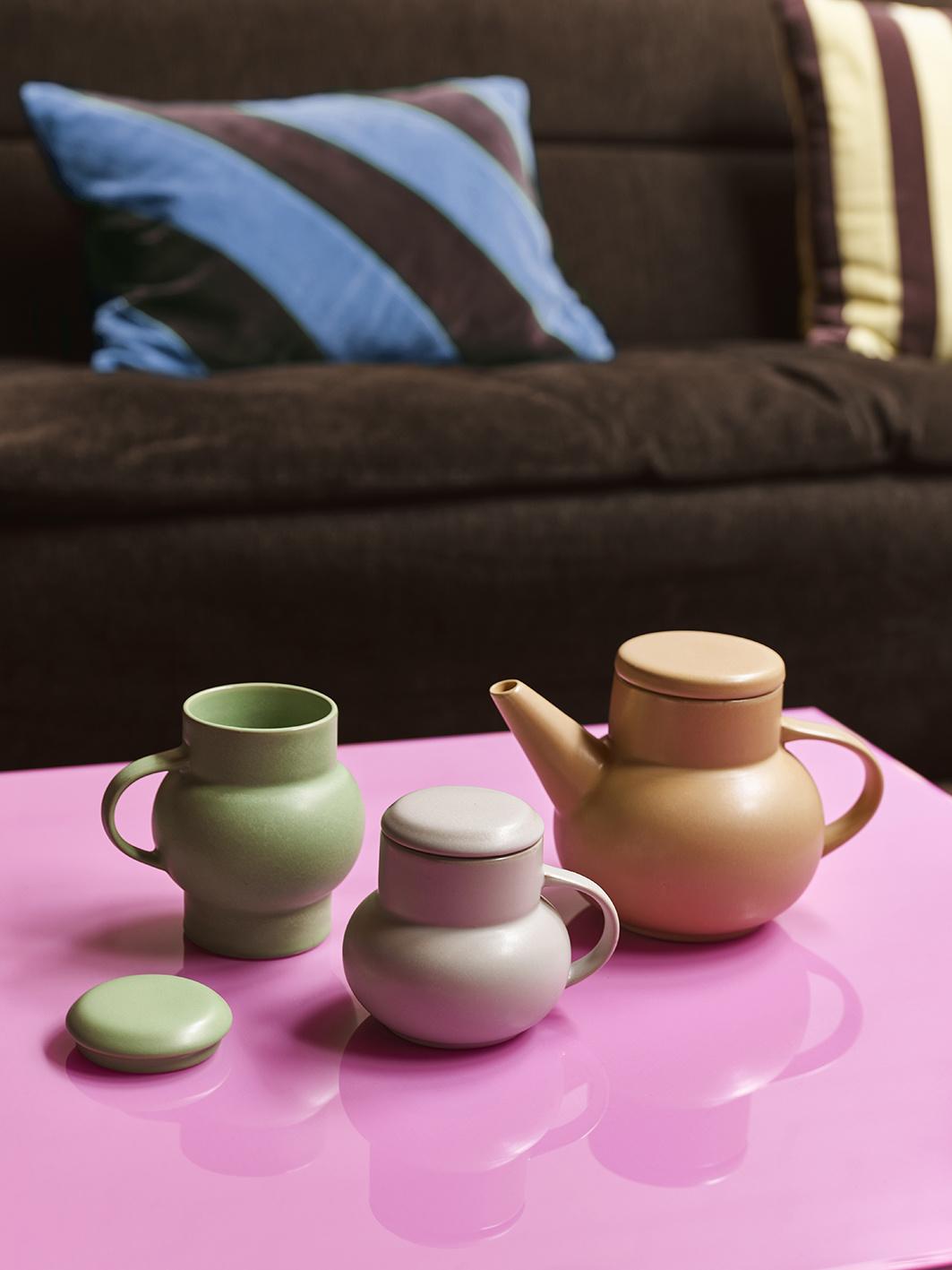 Mok ceramic bubble tea mug M light grey-2