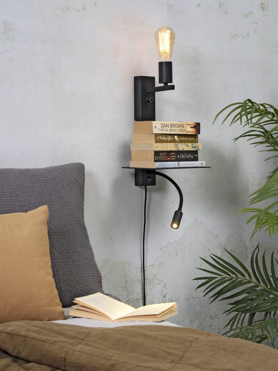 Wandlamp Florence light black-2