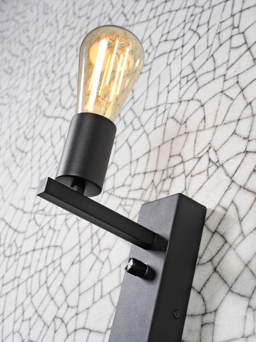 Wandlamp Florence shelf black-3