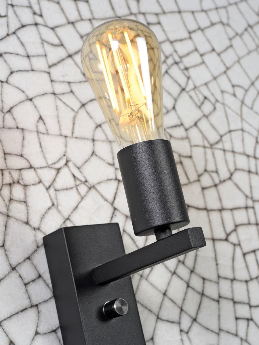 Wandlamp Florence shelf black-4