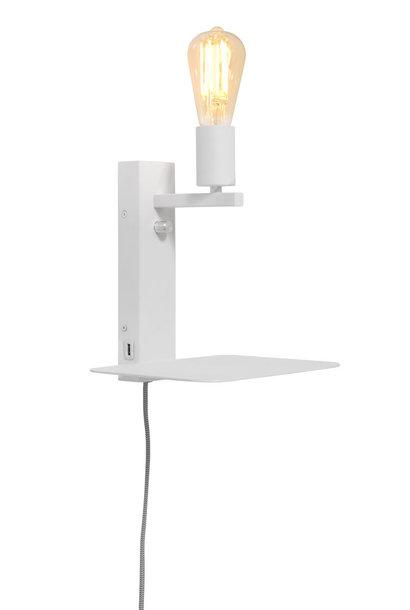 Wandlamp Florence shelf white
