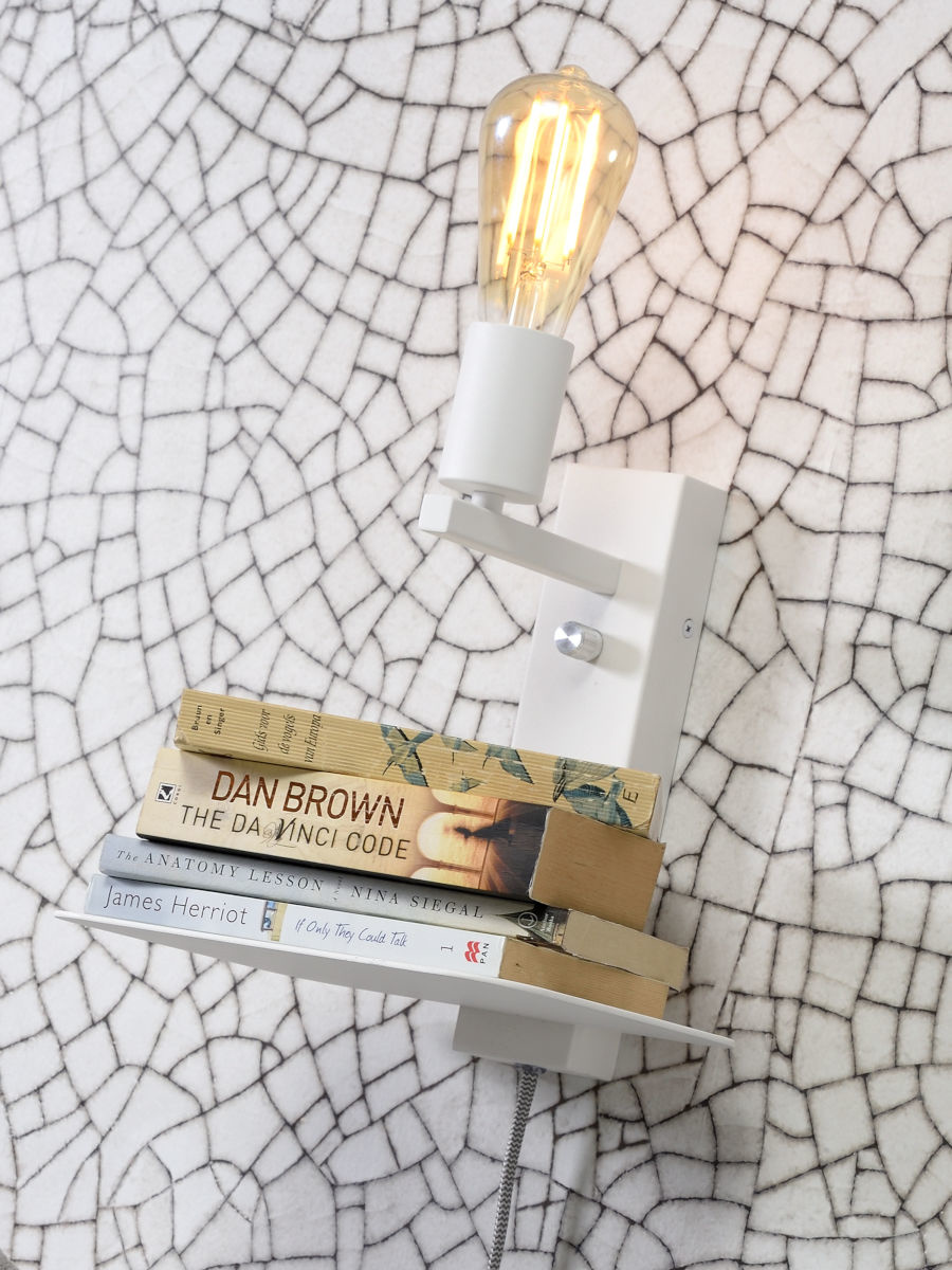 Wandlamp Florence shelf white-2