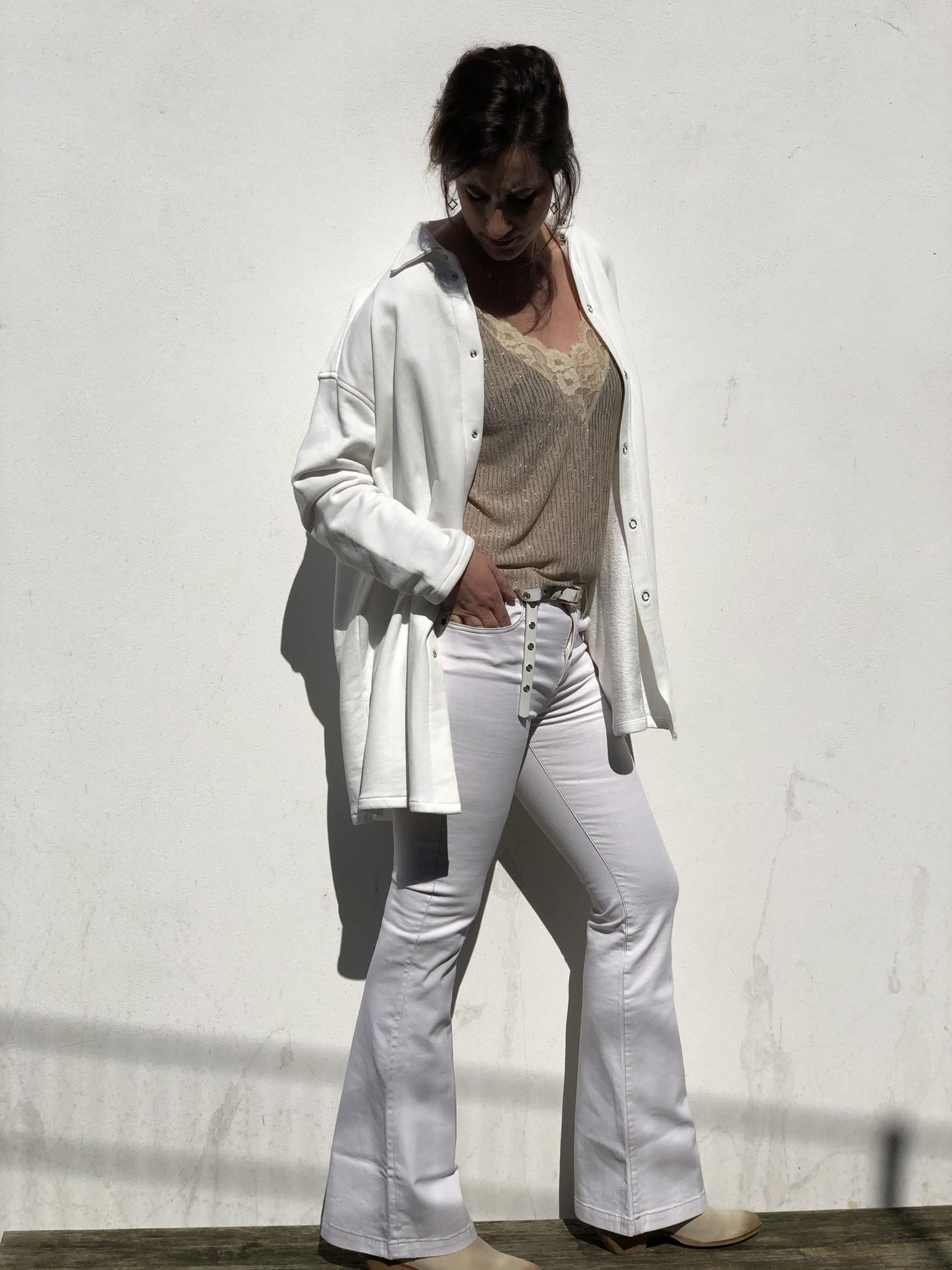 Vest Camicia shirt panna cotton-2
