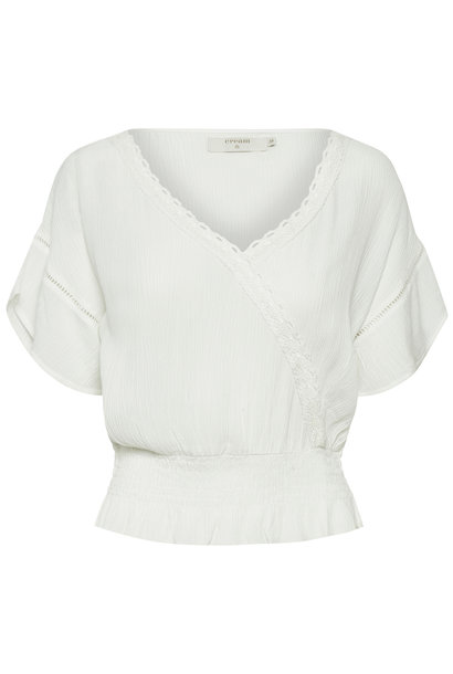 Blouse AnnyCR Blouse EcoVero Chalk Solid