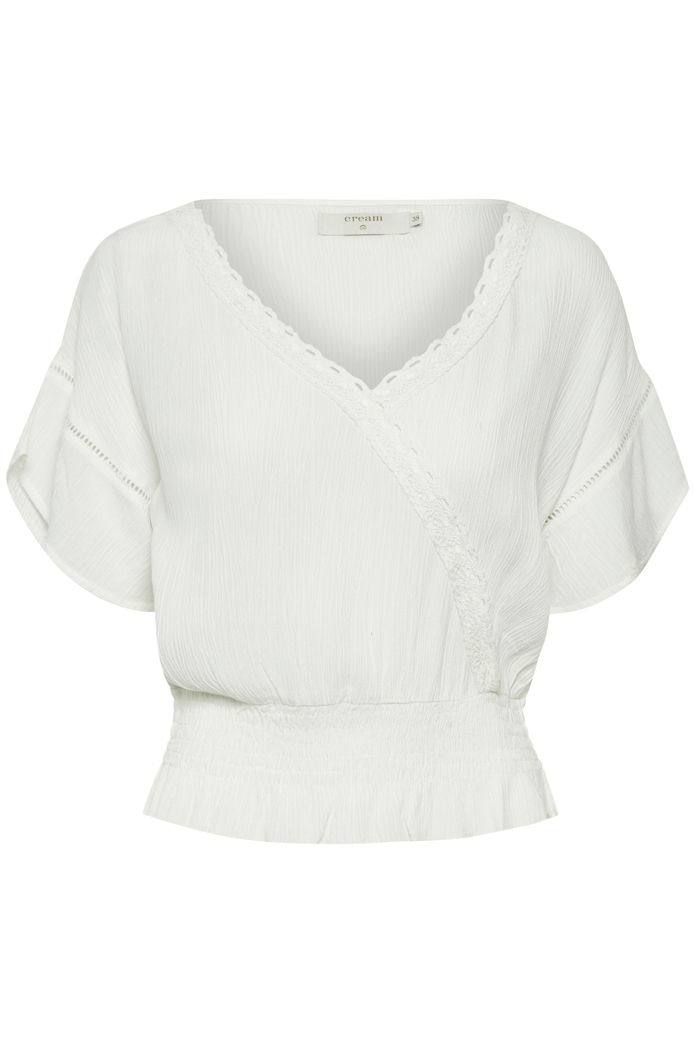 Blouse AnnyCR Blouse EcoVero Chalk Solid-1