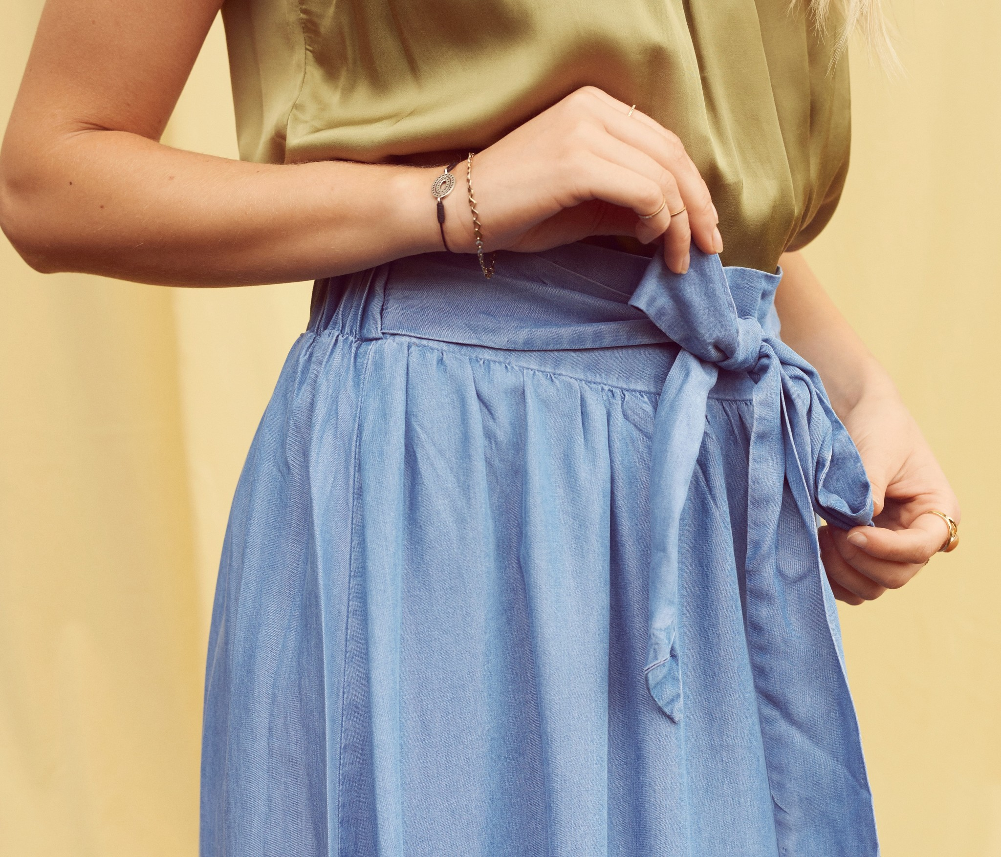 Rok EsterCR Skirt Denim Blue-3