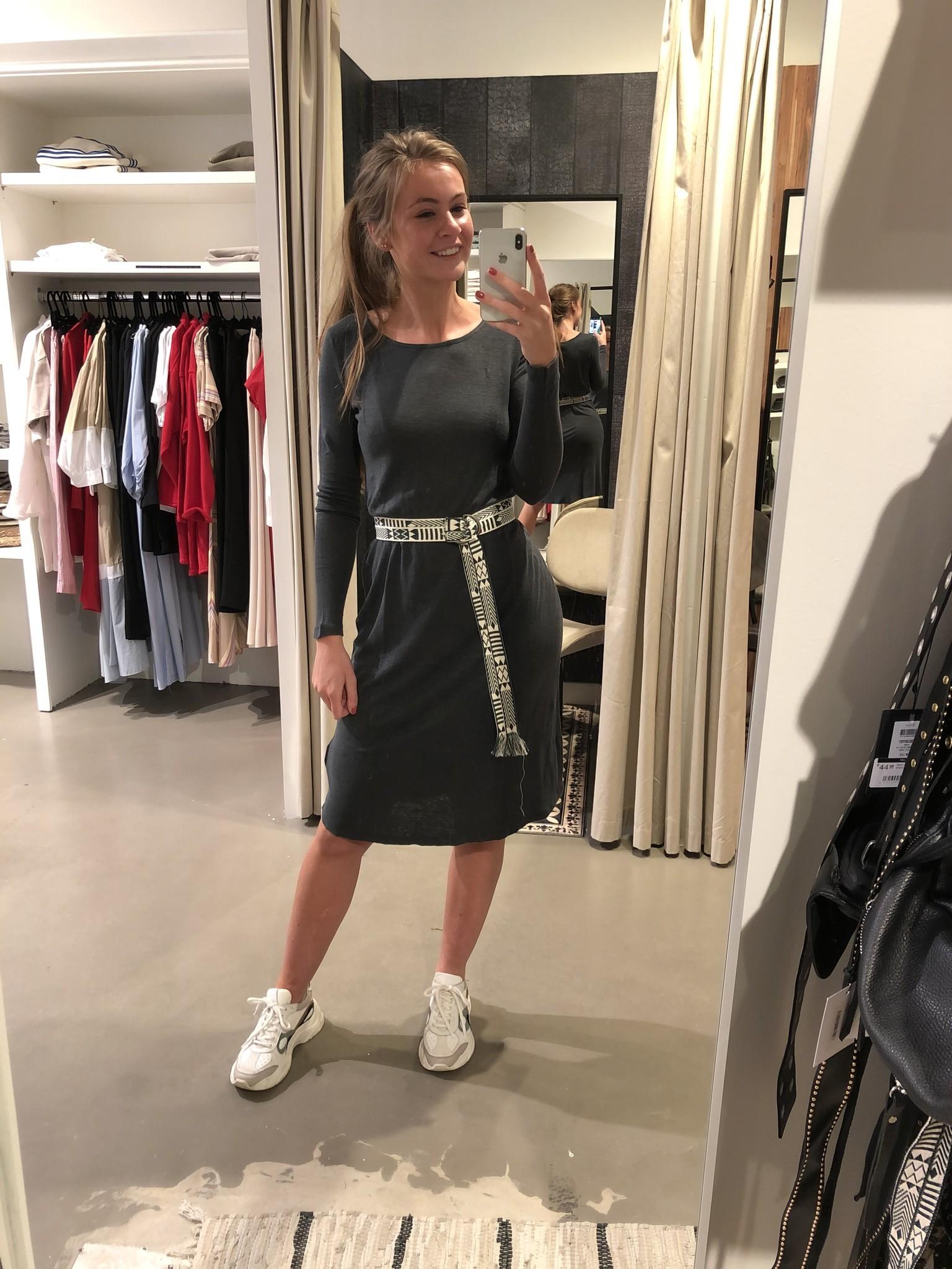Tshirt jurk Lolosister Antraciet-3