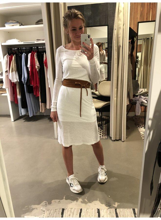 Tshirt jurk Lolosister wit