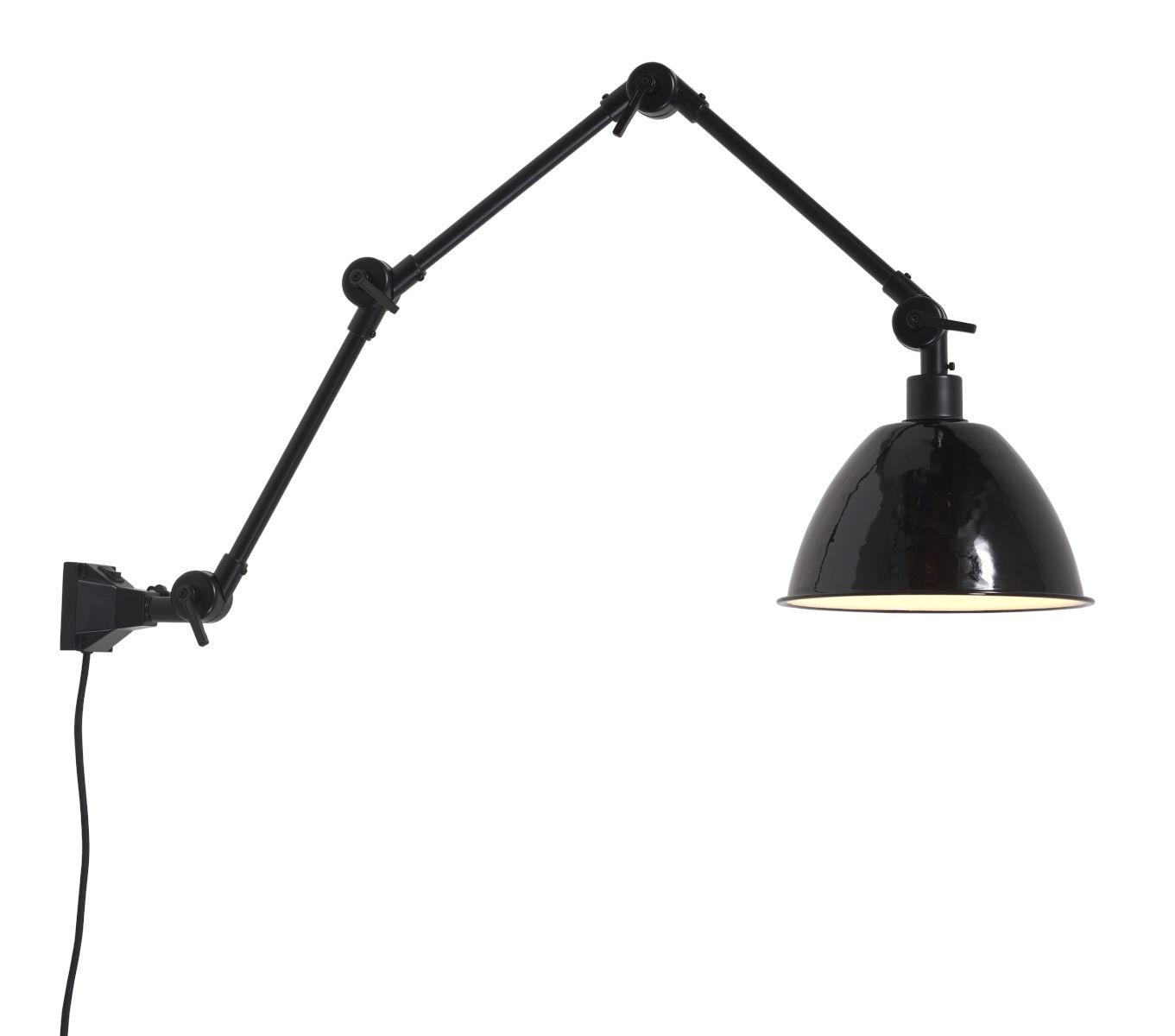 Wandlamp Amsterdam enamel shade black L-1