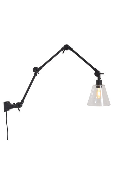 Wandlamp Amsterdam glass shade clear L