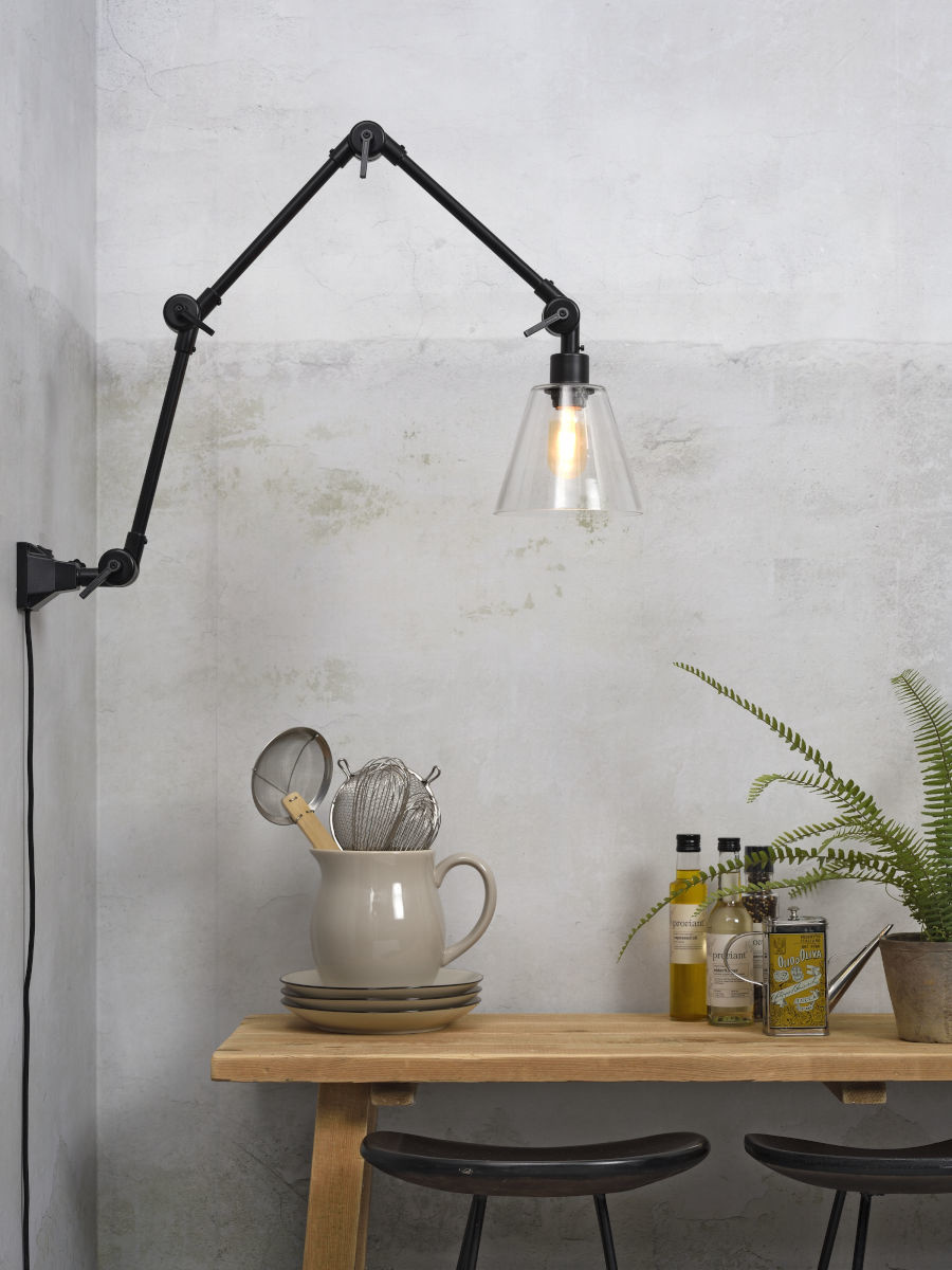 Wandlamp Amsterdam glass shade clear L-2