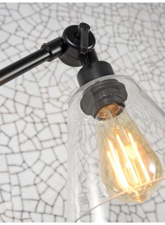 Wandlamp Amsterdam glass shade clear S