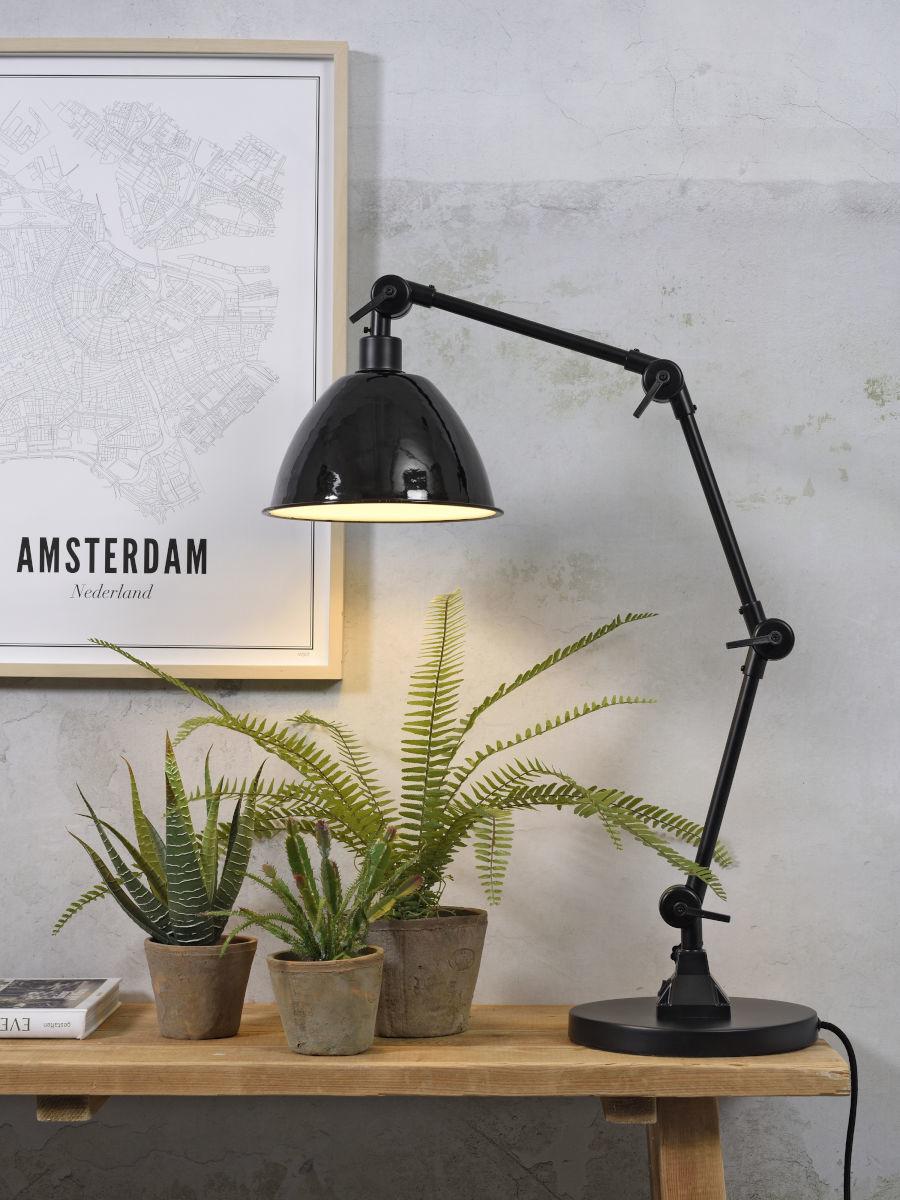 Tafellamp Amsterdam enamel shade clear-2