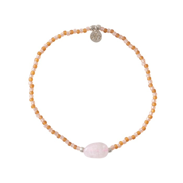 Armband Summer Rose Quartz Silver-1
