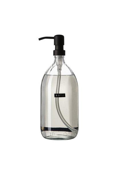 Handzeep helder glas zwarte pomp 5000ml frisse linnen 'Soap'