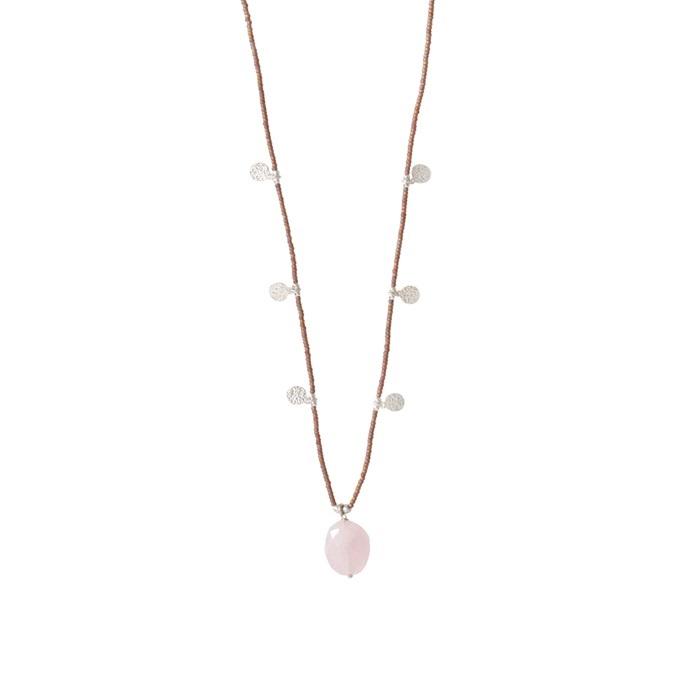 Ketting Charming Rose Quartz Silver-1