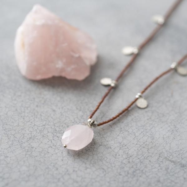 Ketting Charming Rose Quartz Silver-3