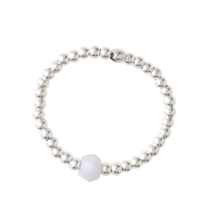 Ring Sparkle Blue Lace Agate Silver M/L-3