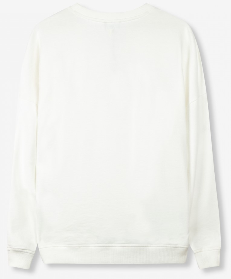 Sweater garmend dyed boxy ALIX off white-4