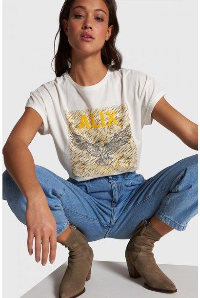 T-shirt boxy Eagle off white