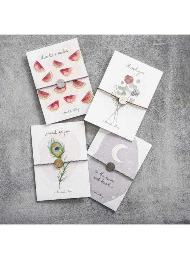 Armband Jewelry Postcard Flowers