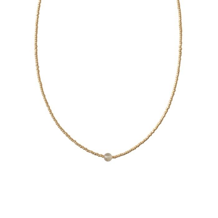 Ketting Flora Citrine Gold-1