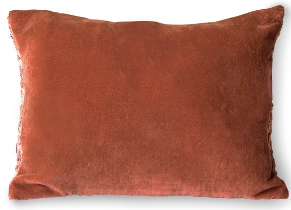 Kussen floral jacquard weave cushion  red/pink (40x30)-5