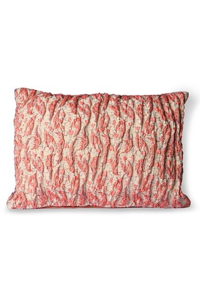 Kussen floral jacquard weave cushion  red/pink (40x30)