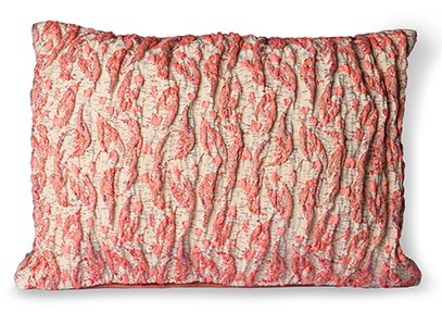 Kussen floral jacquard weave cushion  red/pink (40x30)-1