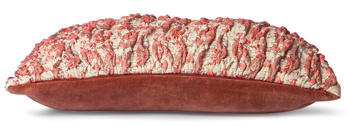 Kussen floral jacquard weave cushion  red/pink (40x30)-3