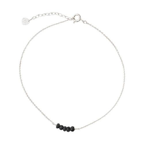 Enkelbandje Cute Black Onyx Sterling Silver-1