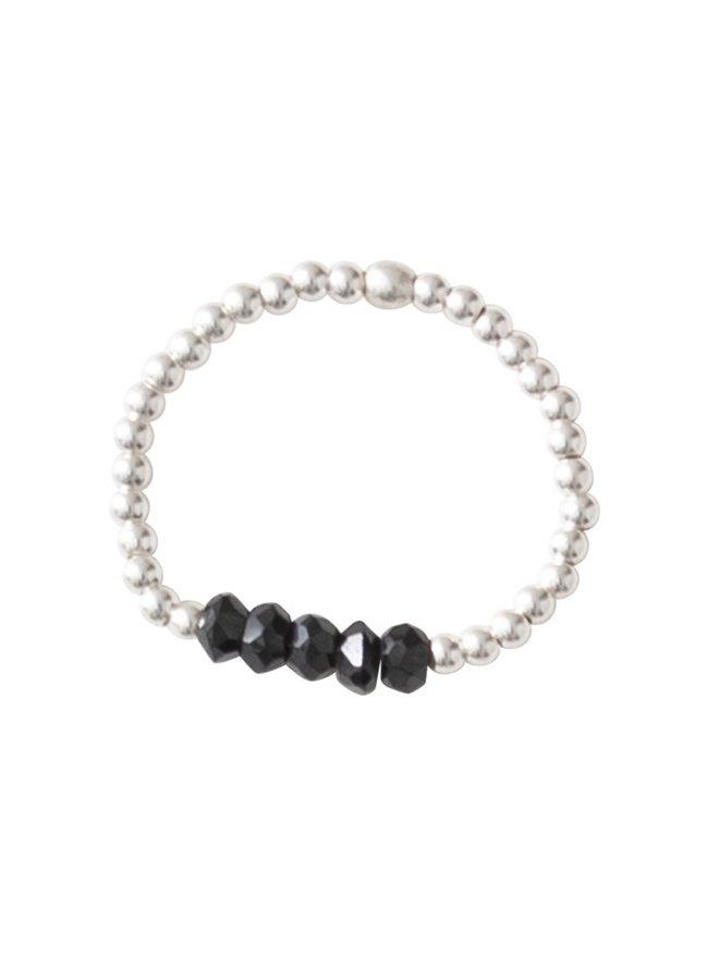 Ring Beauty Black Onyx Silver M/L