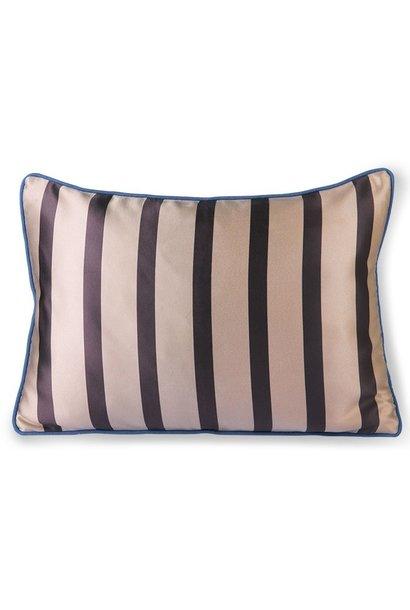 Kussen satin/velvet cushion bown/taupe  (35x50)