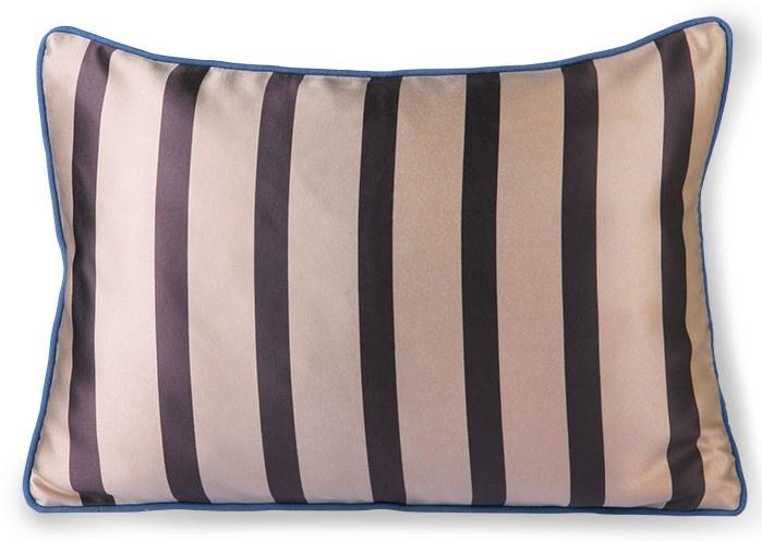 Kussen satin/velvet cushion bown/taupe  (35x50)-1